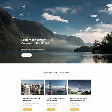 Preview image of Skyline - Travel Agency MotoCMS 3