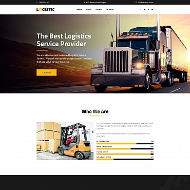 Preview image of Logistic - Moving Company MotoCMS 3