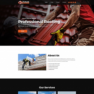 Preview image of ProRoofs - Roofing Service MotoCMS 3