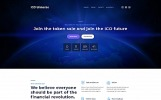 Responsivt ICO Universe - Bitcoin Cryptocurrency MotoCMS 3 Landing Page-mall