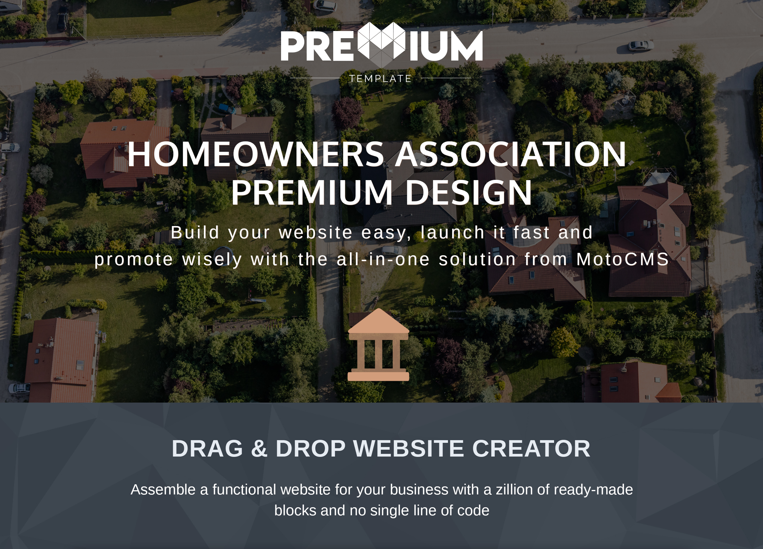 Homeville - Homeowners Association Premium Moto CMS 3 Template