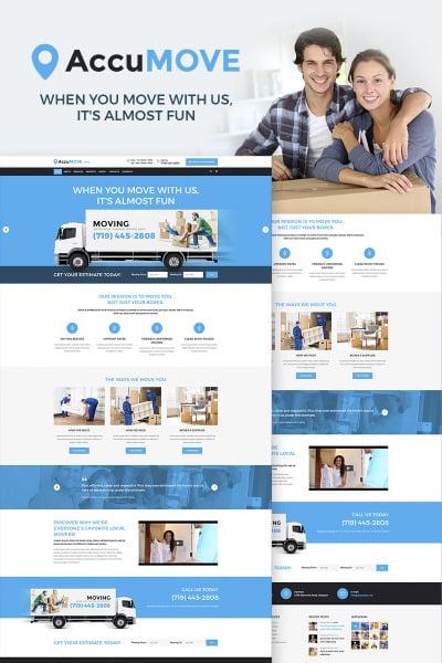 Responsive Tema De WordPress #66315 para Sitio de  para Sitio de Servicios de mudanza