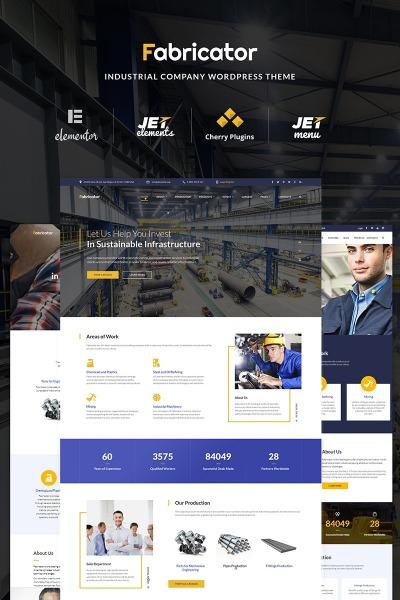 Адаптивный WordPress шаблон №66334 на тему металлургическая компания #66334