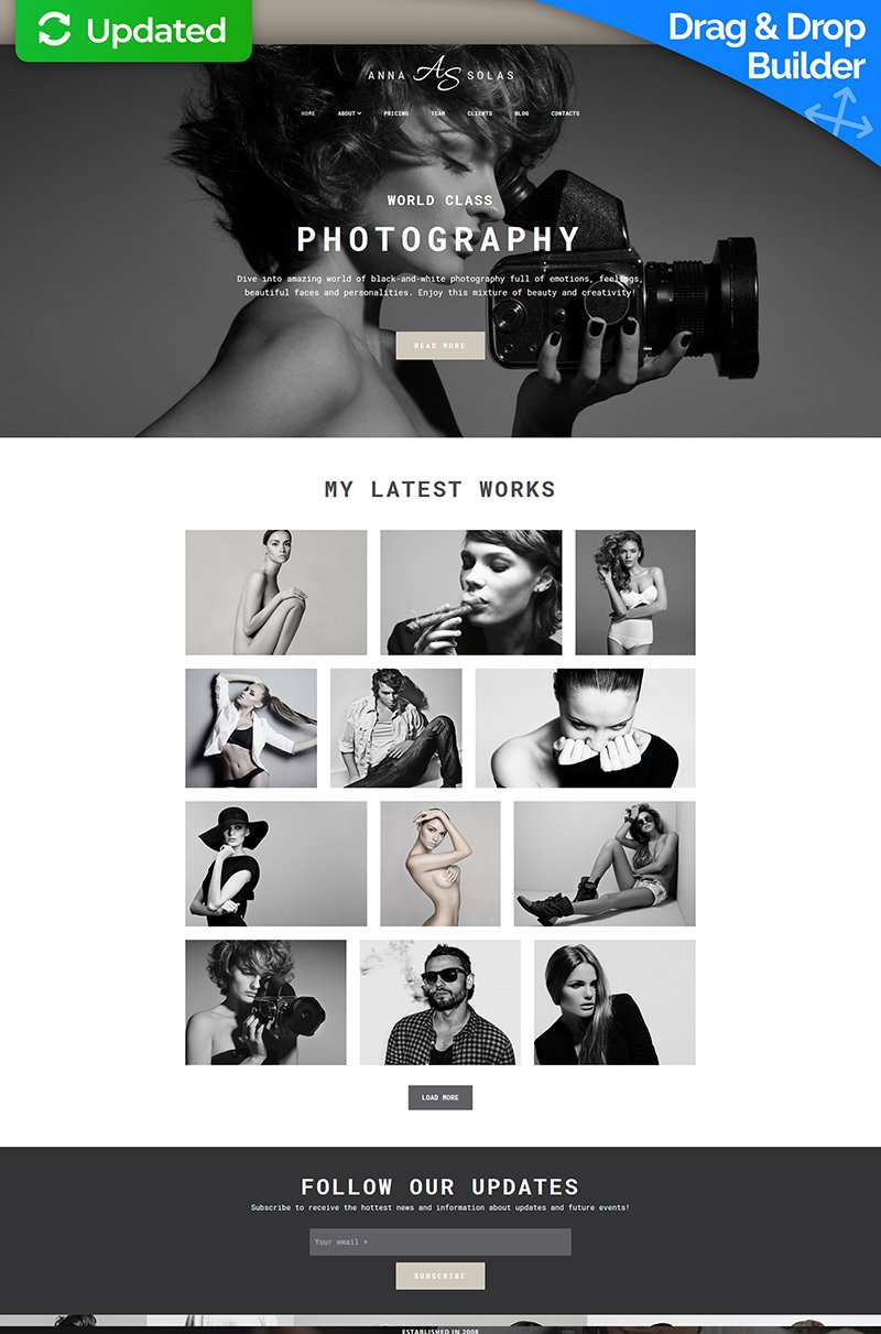 Anna Solas - Photographers Portfolio Photo Gallery Templates Moto CMS 3 №66362