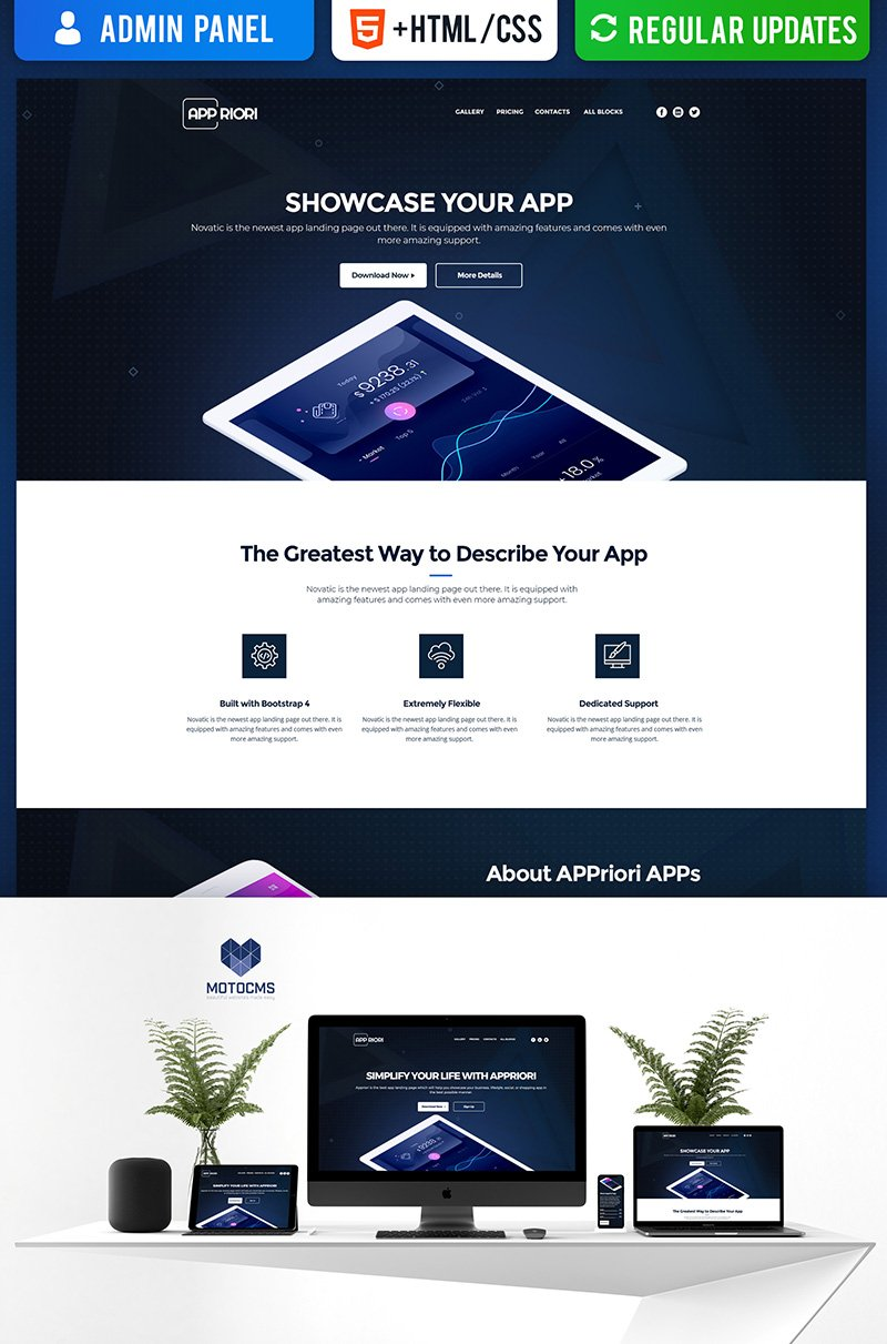 Appriori - Mobile App Landing Page Template