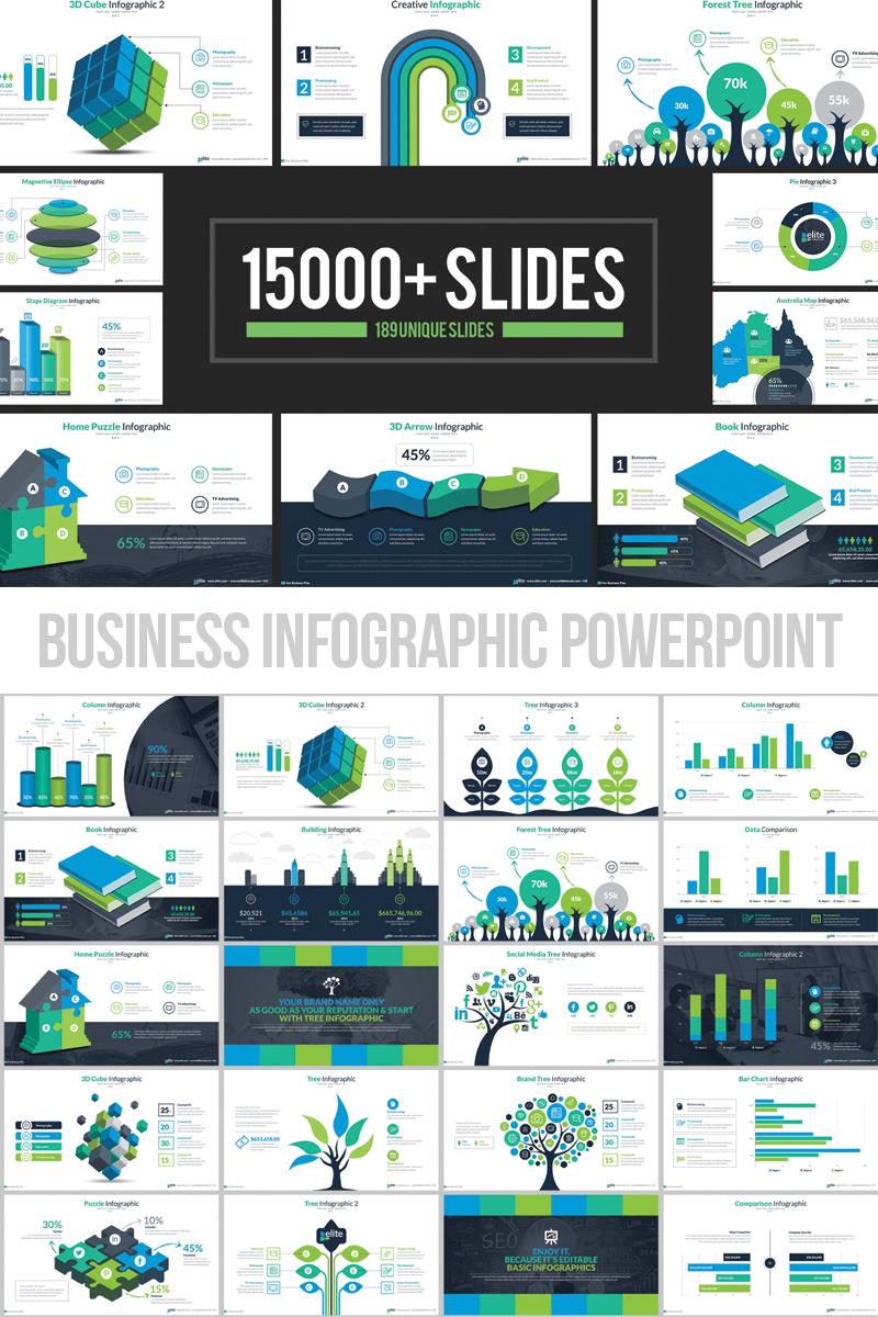 """Business Infographic Presentation"" - адаптивний PowerPoint шаблон №66340"