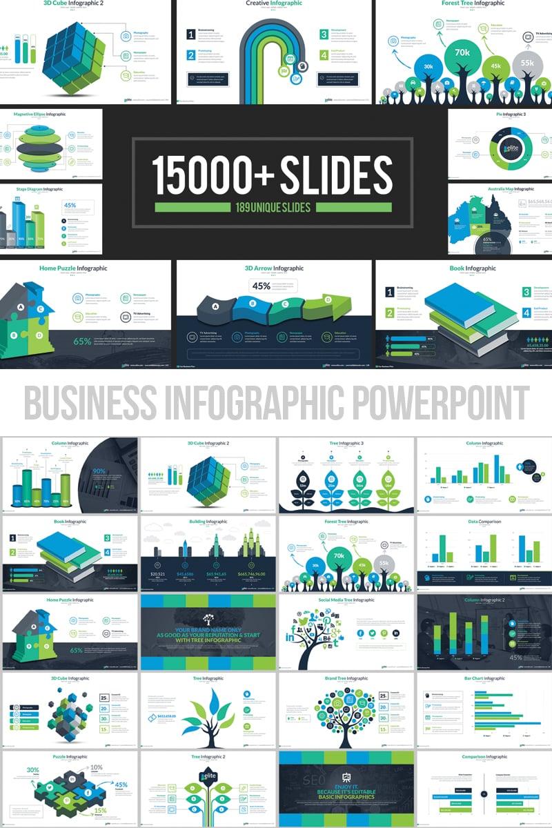 """Business Infographic Presentation"" modèle PowerPoint adaptatif #66340 - screenshot"