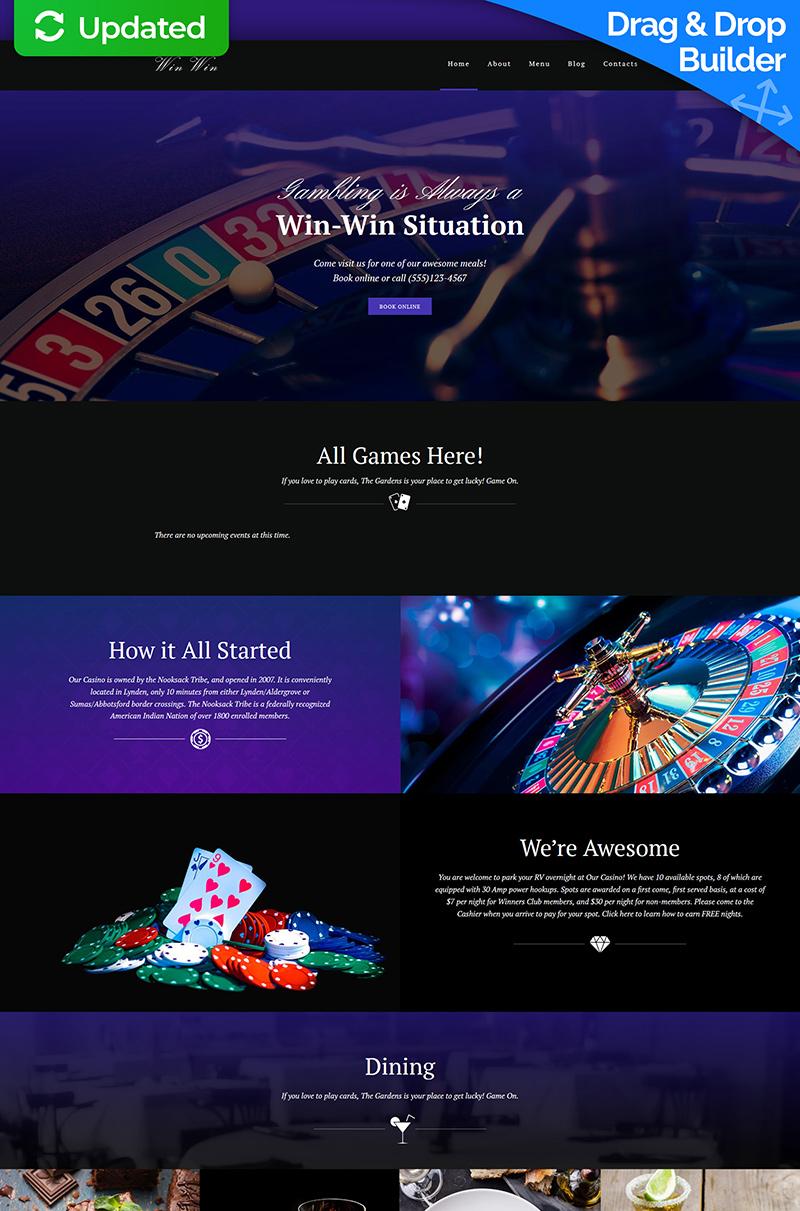 Casino Website Moto CMS 3 Template - screenshot