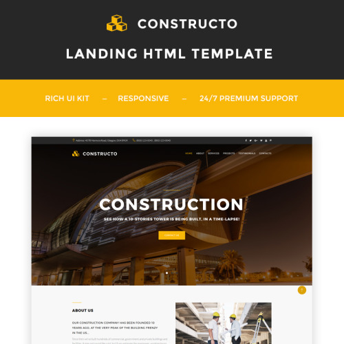 Constructo - Construction Company - Landing Page Template based on Bootstrap