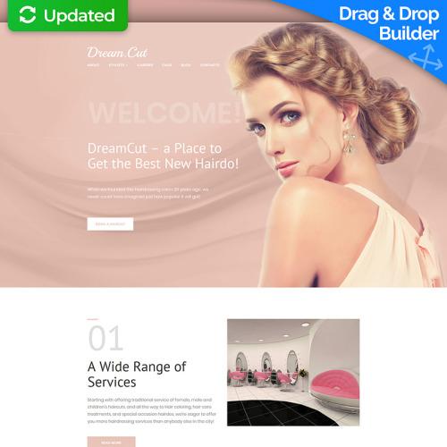 DreamCut - Hair Salon - MotoCMS 3 Template based on Bootstrap