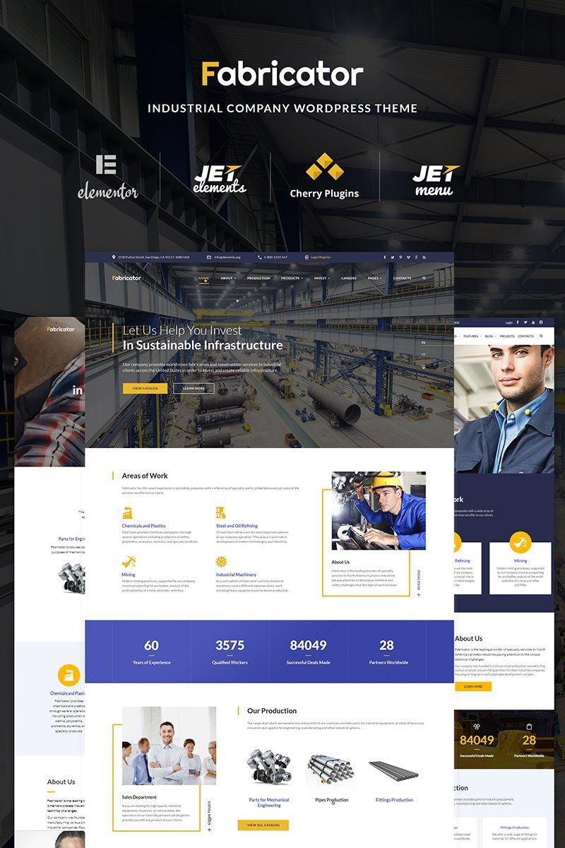 Fabricator - Industrial Company Elementor WordPress sablon 66334 - képernyőkép