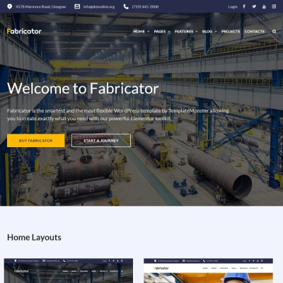 Fabricator - Industrial Company WordPress Theme #66334