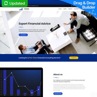 Financial Advisor MotoCMS 3 Landing Page Template #66382