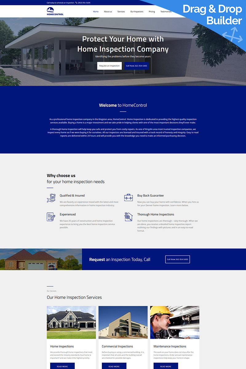Home Inspection Premium Moto CMS 3 Template