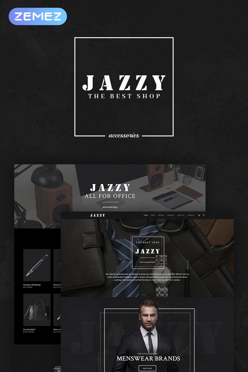 """Jazzy - Men's Accessories Shop"" 响应式WooCommerce模板 #66312"