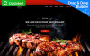 "Landing Page Template namens ""Steakon - BBQ Restaurant MotoCMS 3"" New Screenshots BIG"