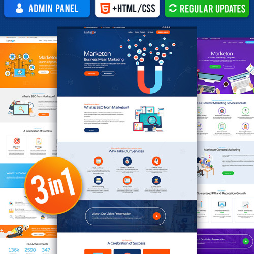 Multipurpose Marketing - Landing Page Template based on Bootstrap
