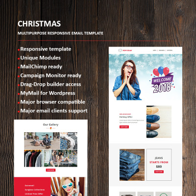 New year email newsletter template 66336 business responsive newsletter template cheaphphosting Image collections
