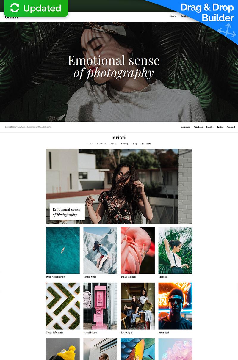 """Oristi - Photographer Portfolio"" - адаптивний MotoCMS 3 шаблон №66391"