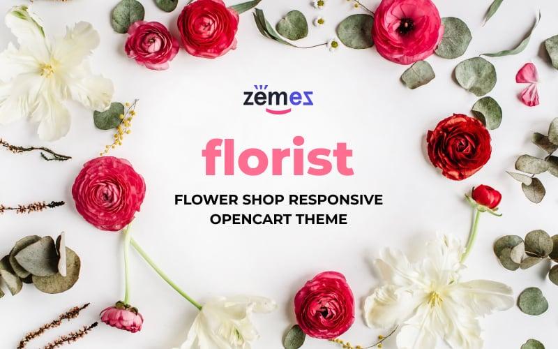 "Plantilla OpenCart ""Flower Shop Responsive"" #66302"