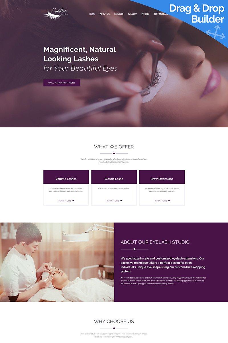 Responsive Eyelash Extension Studio Moto Cms 3 #66395
