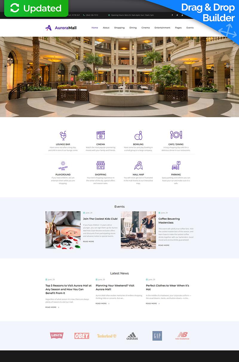 Responsive Shopping Mall Premium Moto Cms 3 #66388