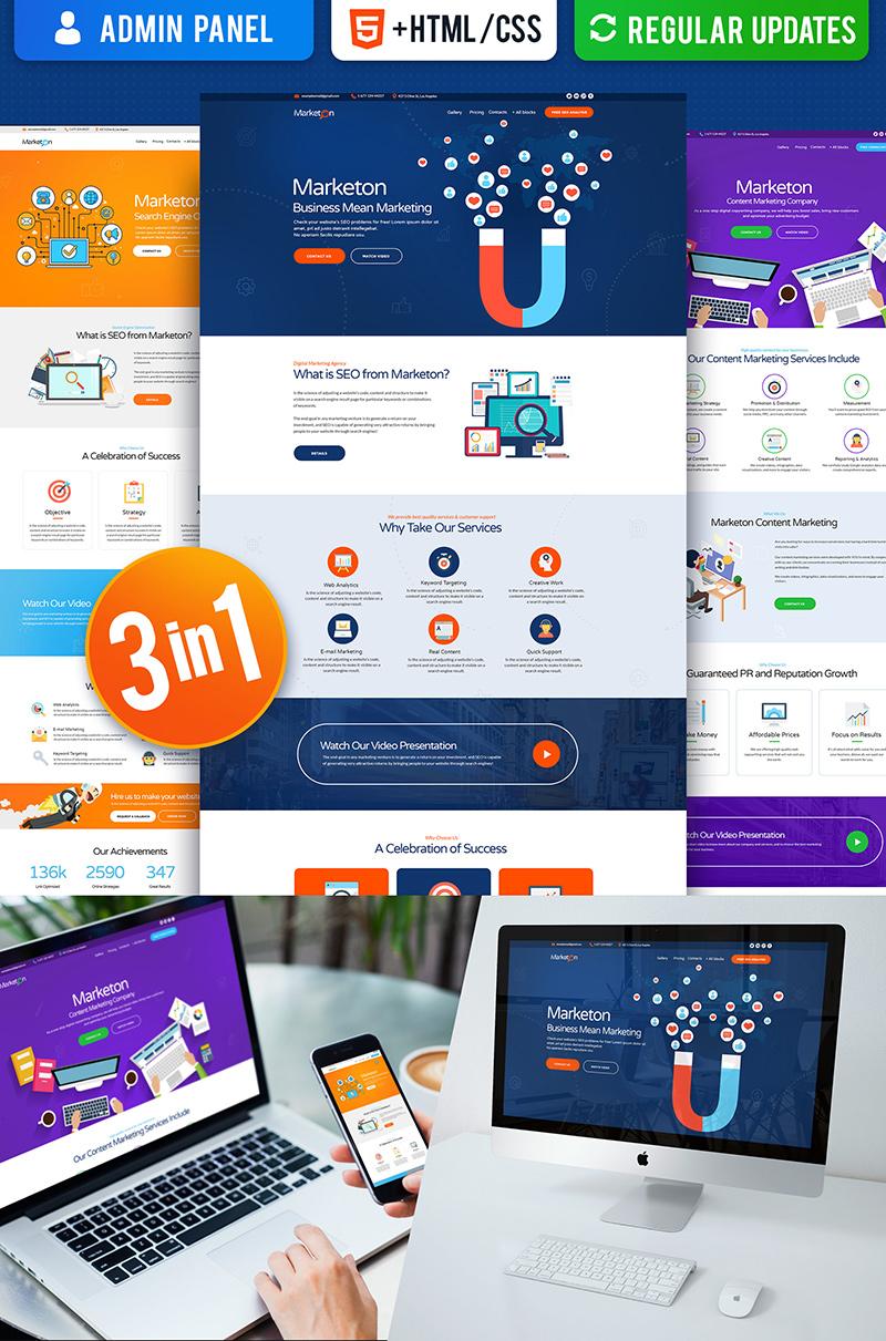Responsivt Multipurpose Marketing Landing Page-mall #66378