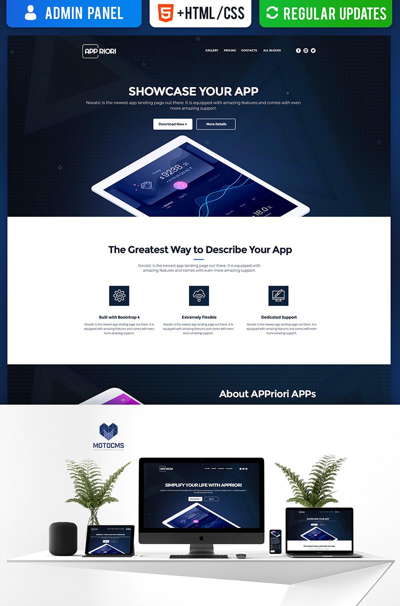 Responsywny szablon Landing Page Appriori - Mobile App #66374