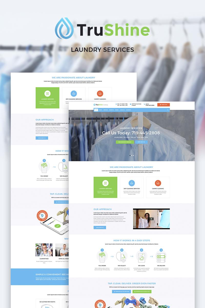 """Responzivní WordPress motiv """"TruShine Laundry Service"""" #66335"""