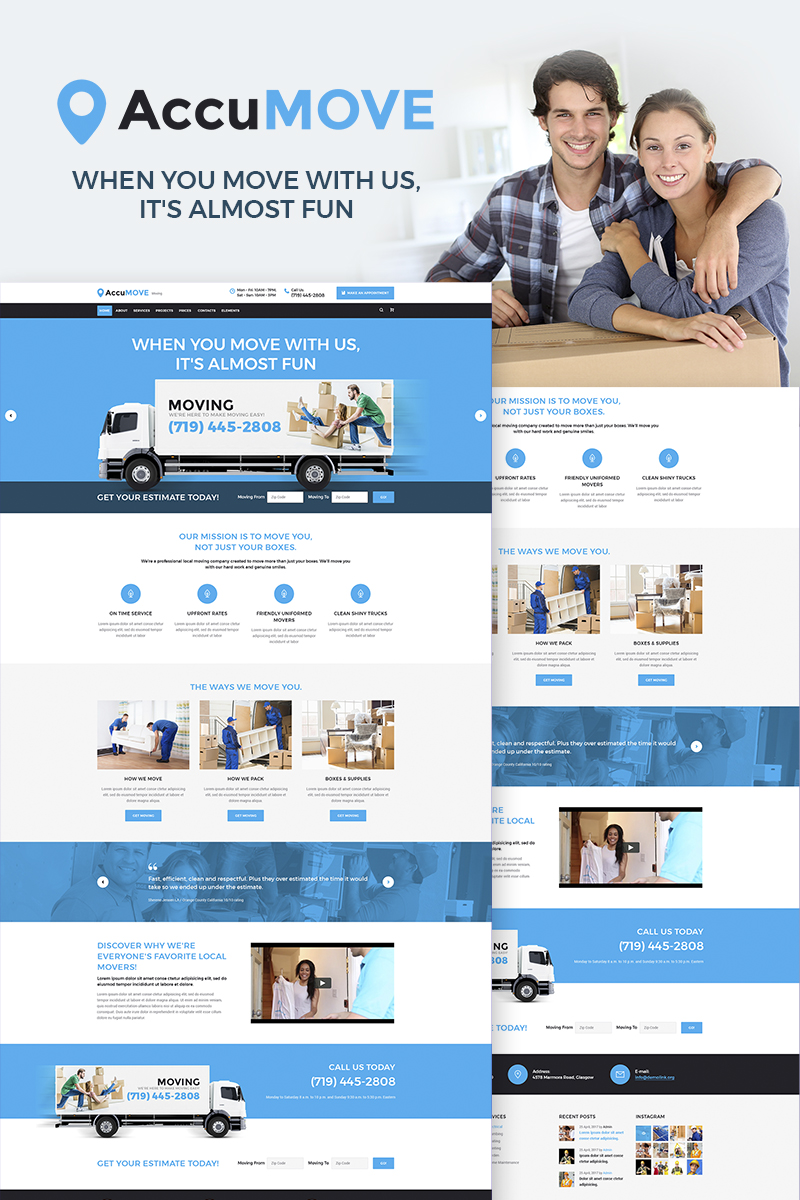 Reszponzív AccuMOVE! - Moving Company Responsive WordPress sablon 66315