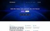 Reszponzív ICO Universe - Bitcoin Cryptocurrency MotoCMS 3 Nyítóoldal sablon