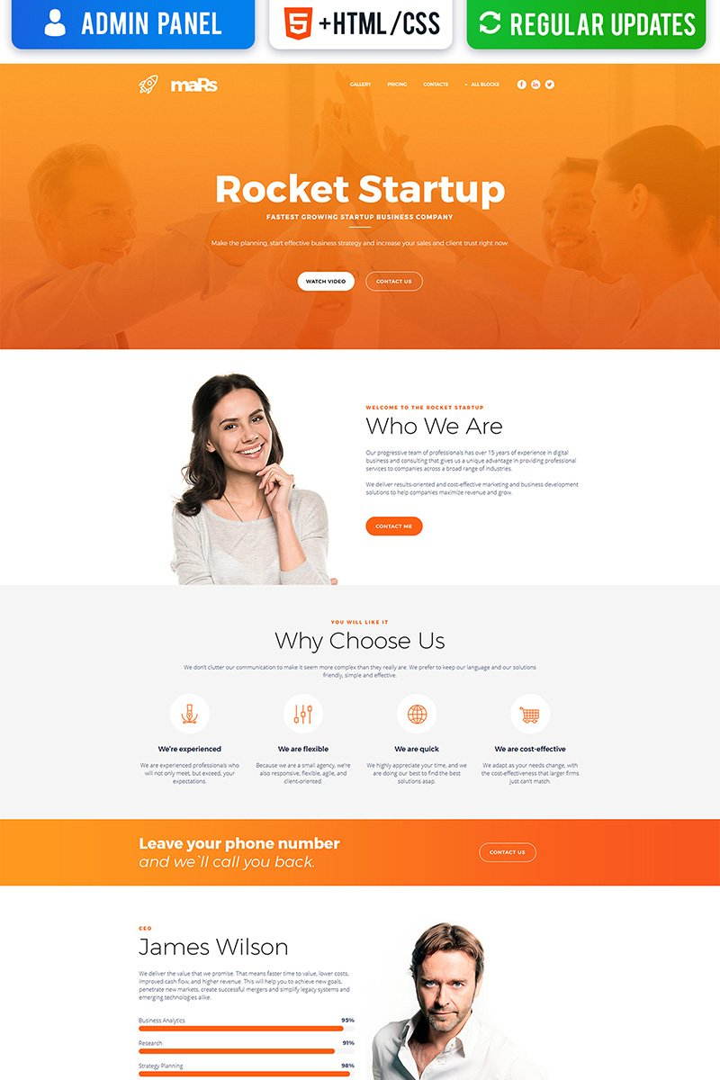 Reszponzív Startup MotoCMS 3 Nyítóoldal sablon 66369