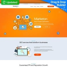 Business landing page templates templatemonster seo premium landing page template fbccfo Gallery
