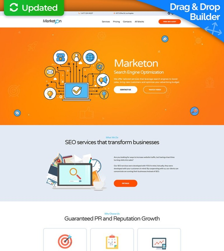 SEO Landing Page Template - Seo landing page template