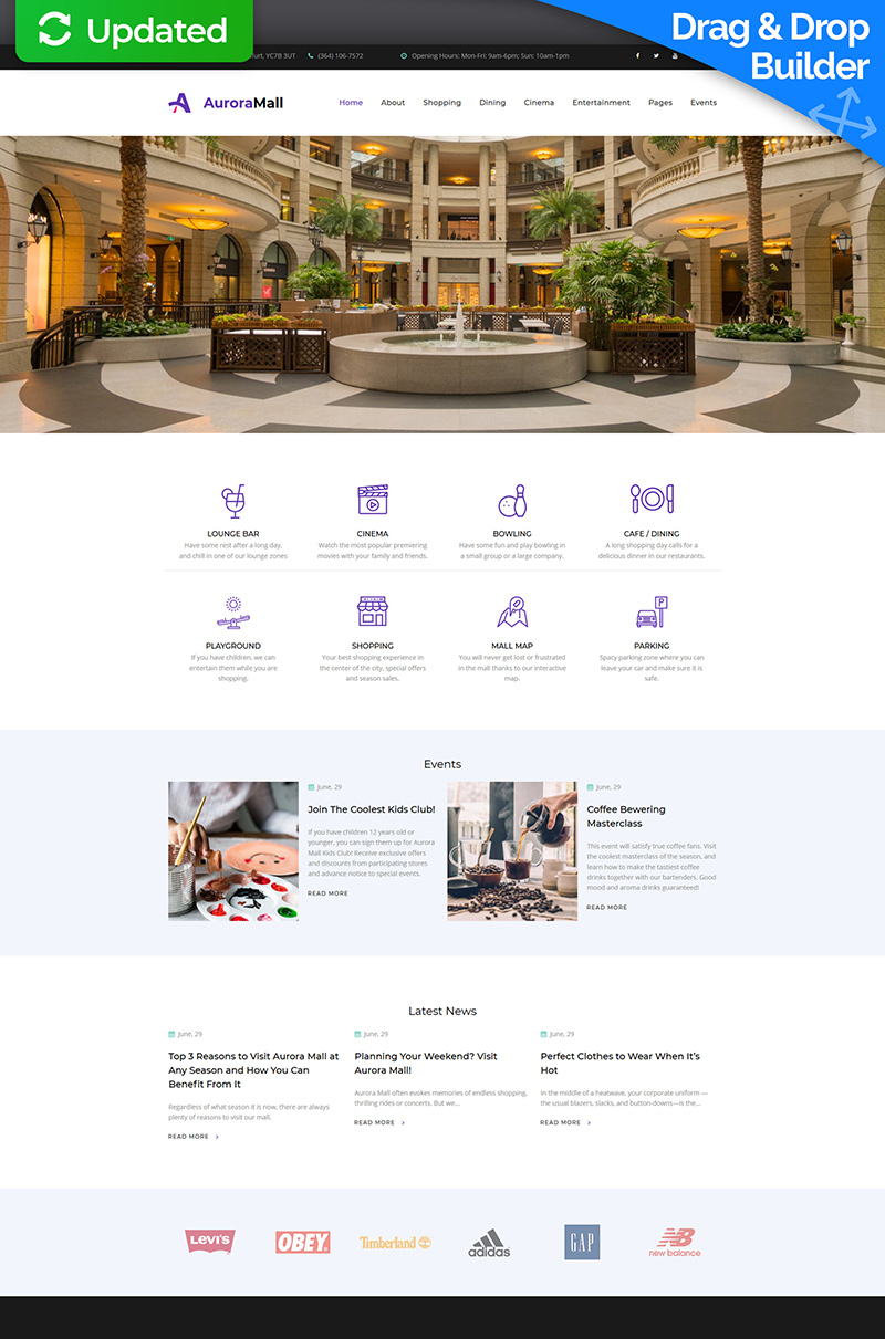 """Shopping Mall Premium"" Responsive Moto CMS 3 Template №66388"