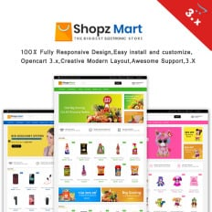Grocery Store OpenCart Template