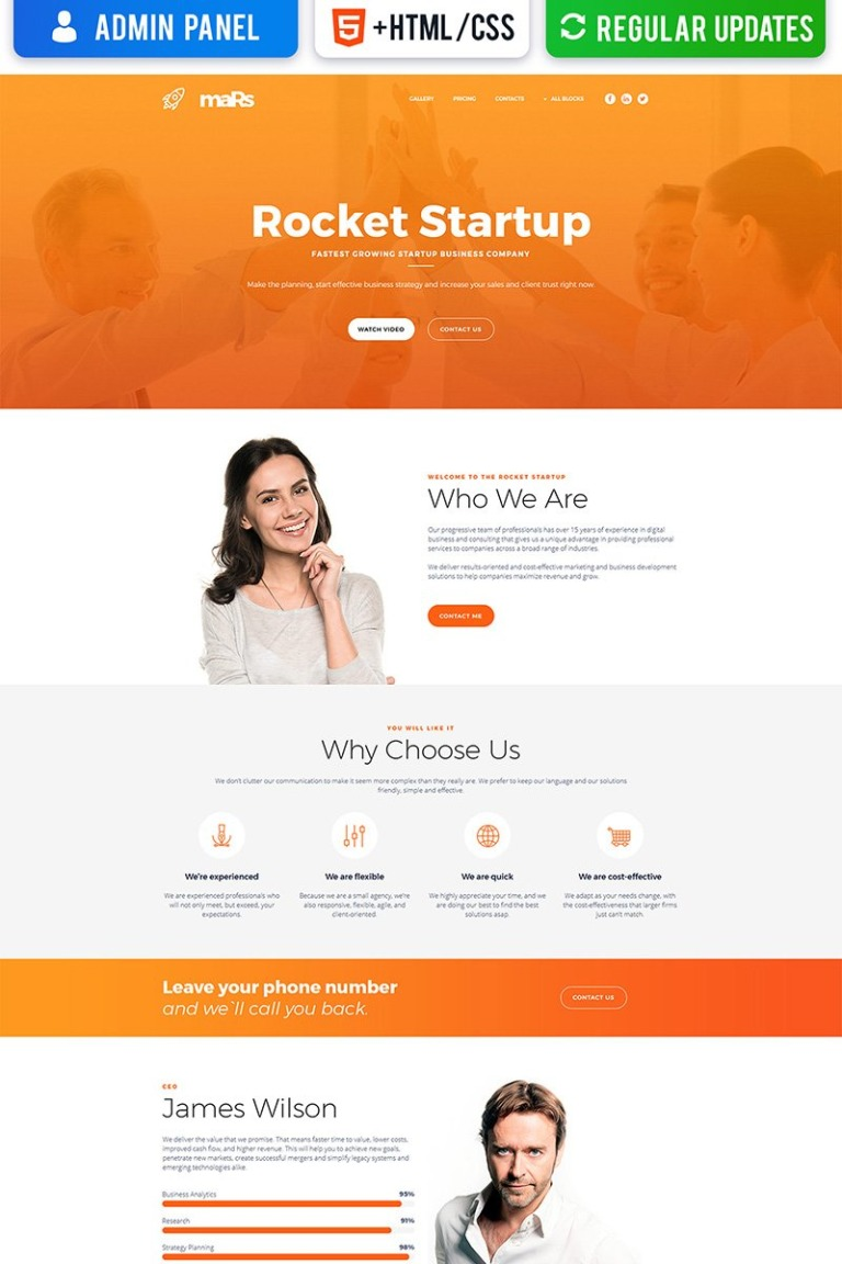 Startup Motocms 3 Landing Page Template 66369