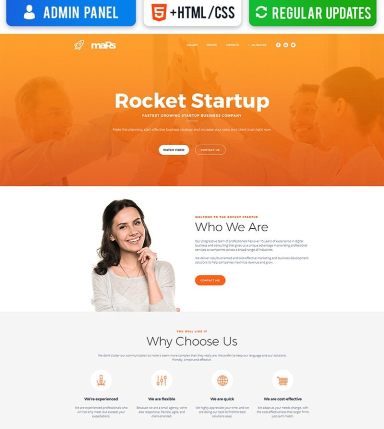 Startup MotoCMS Landing Page Template - Sales landing page template