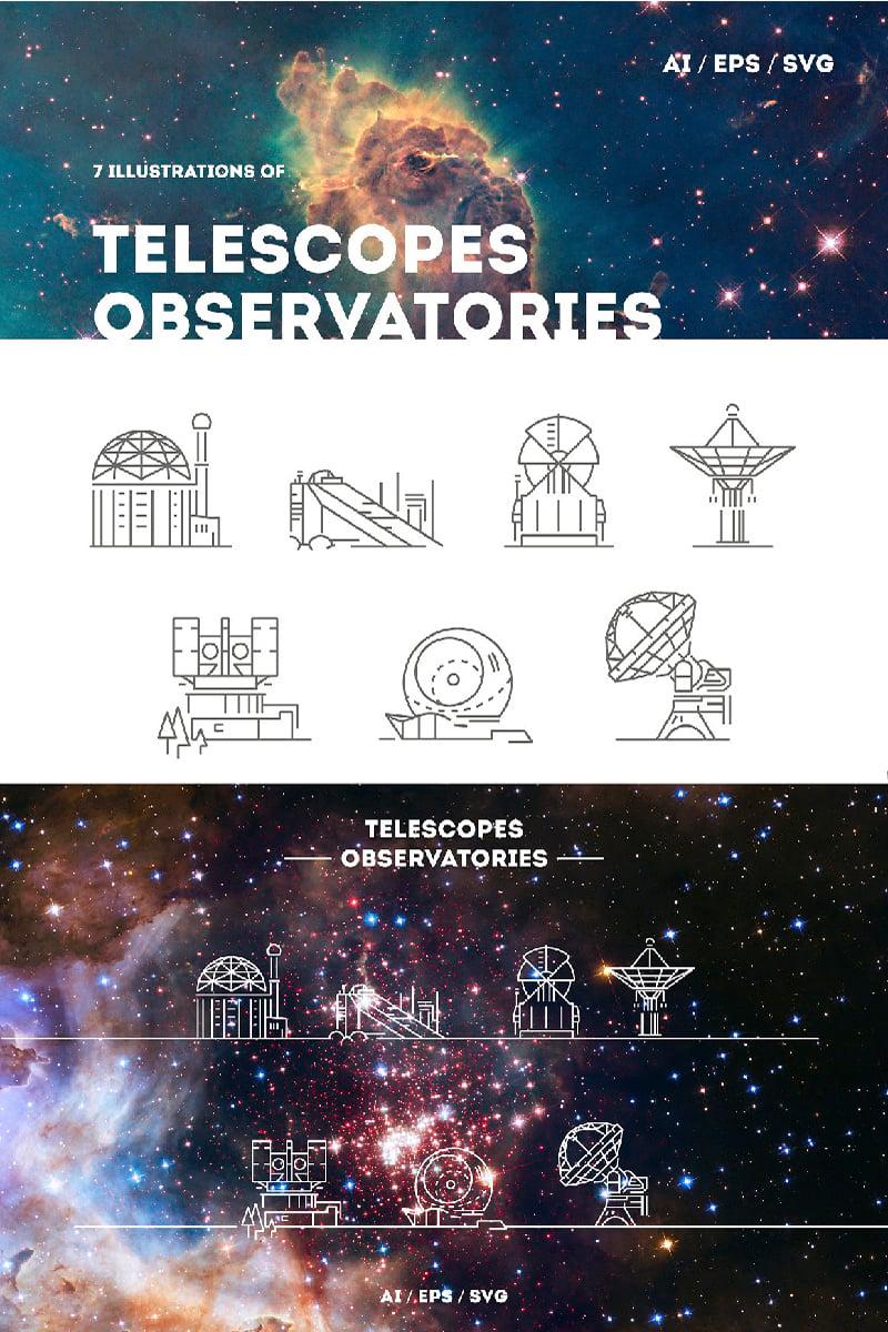 Telescopes and Observatories Logo Template - screenshot