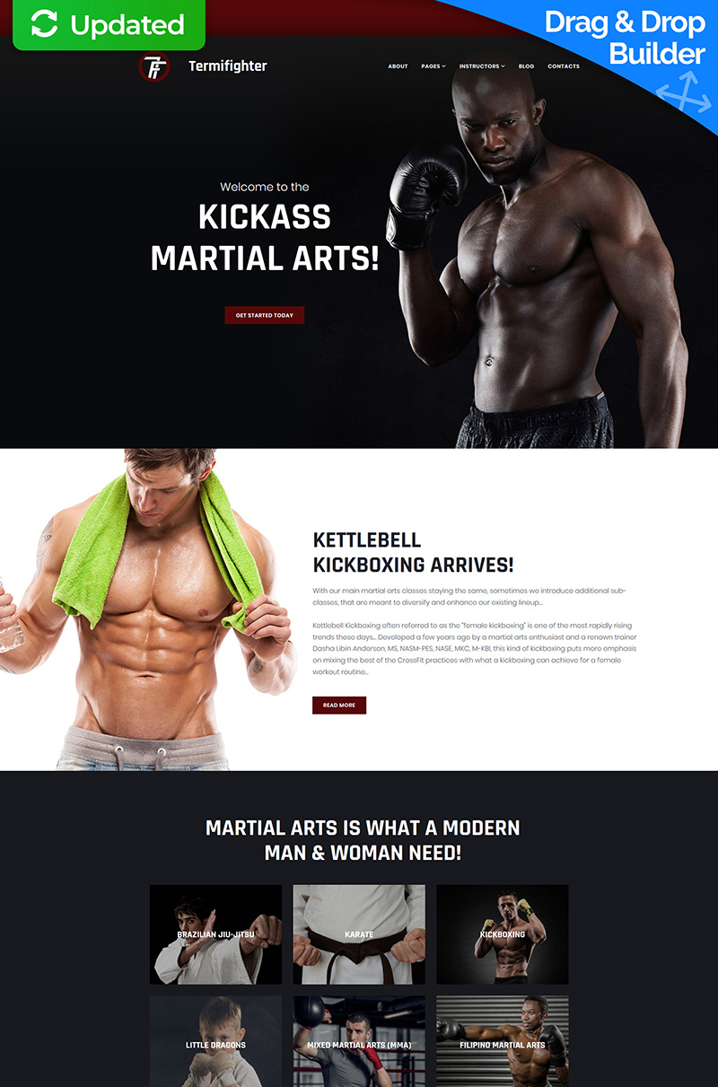 Termifighter - Martial Arts Club Moto CMS 3 Template