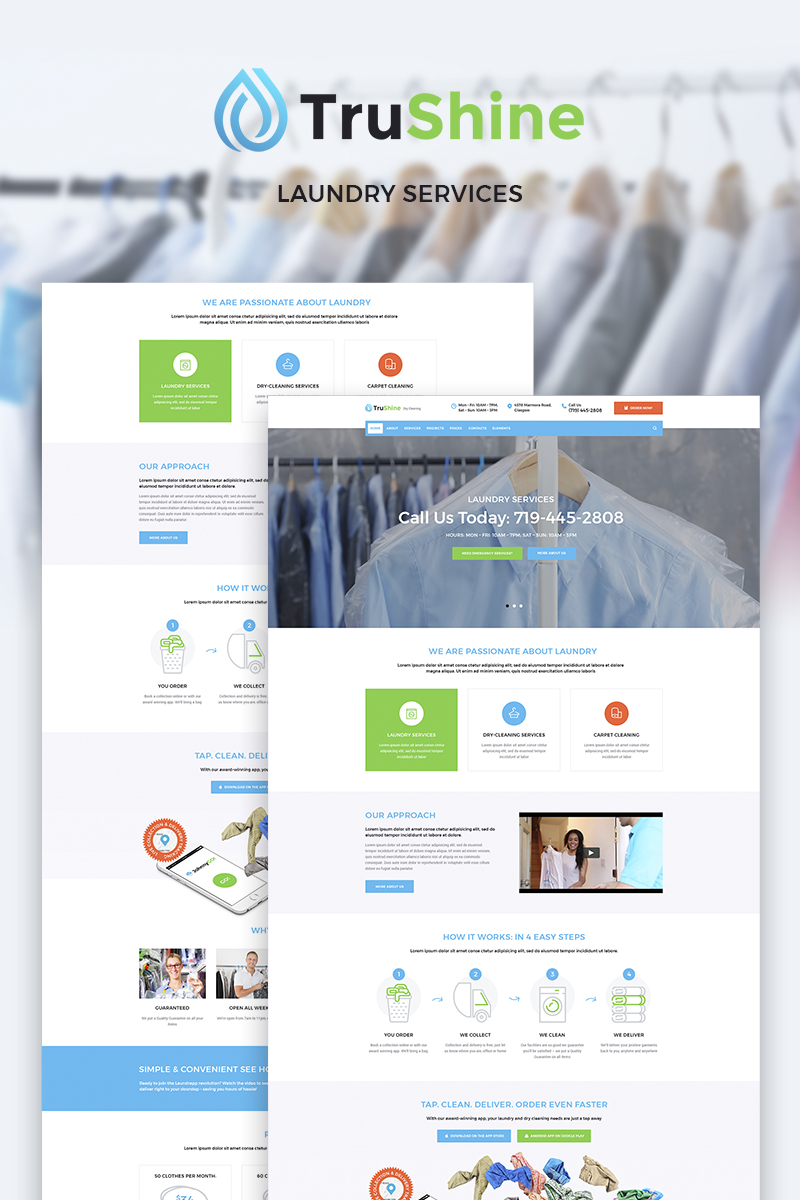 TruShine Laundry Service WordPress Theme - screenshot