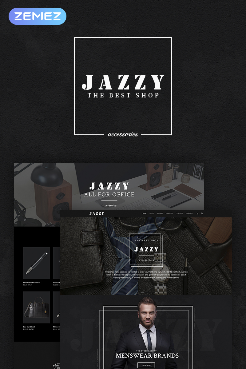 "WooCommerce Theme namens ""Jazzy - Men's Accessories Shop"" #66312"