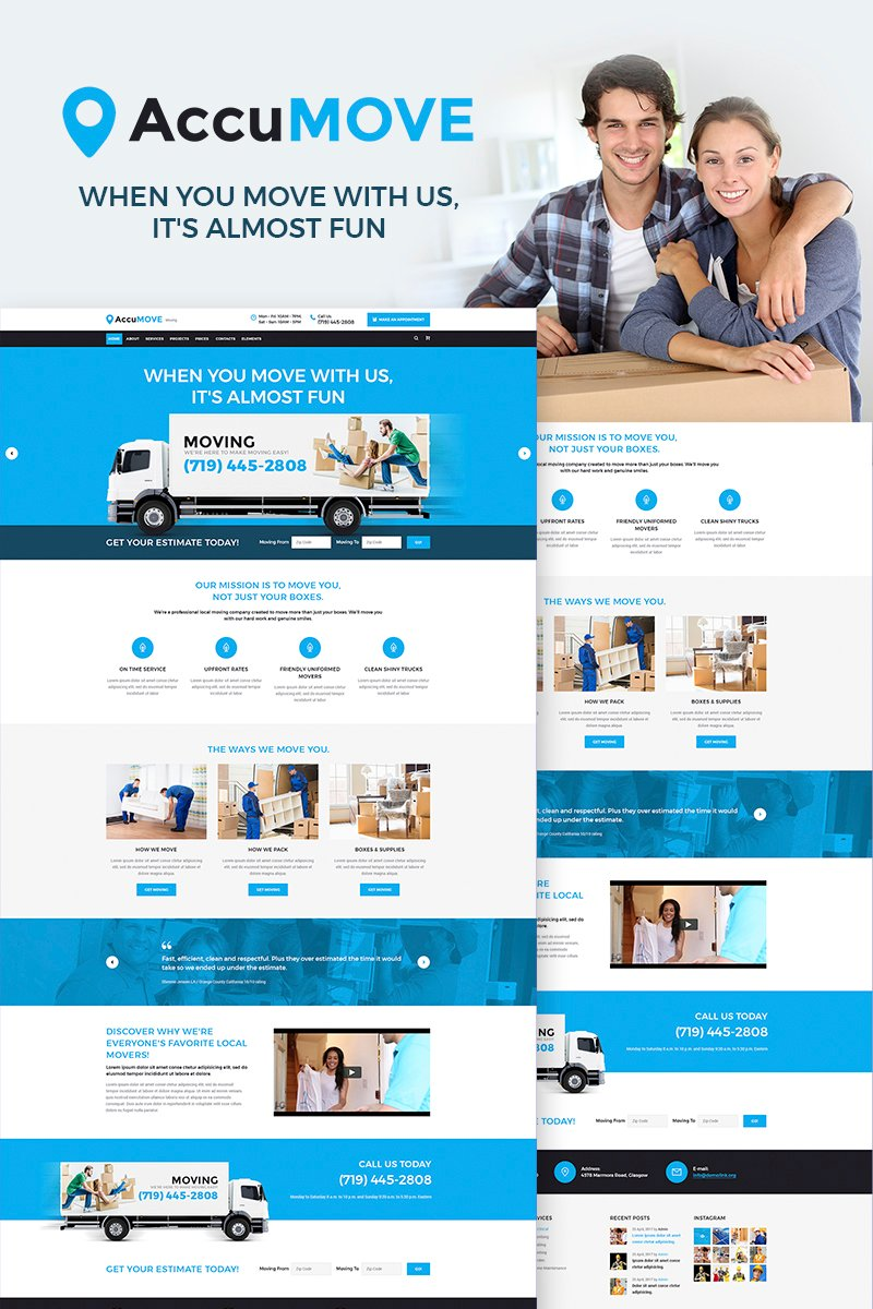 "WordPress Theme namens ""AccuMOVE! - Moving Company Responsive"" #66315"