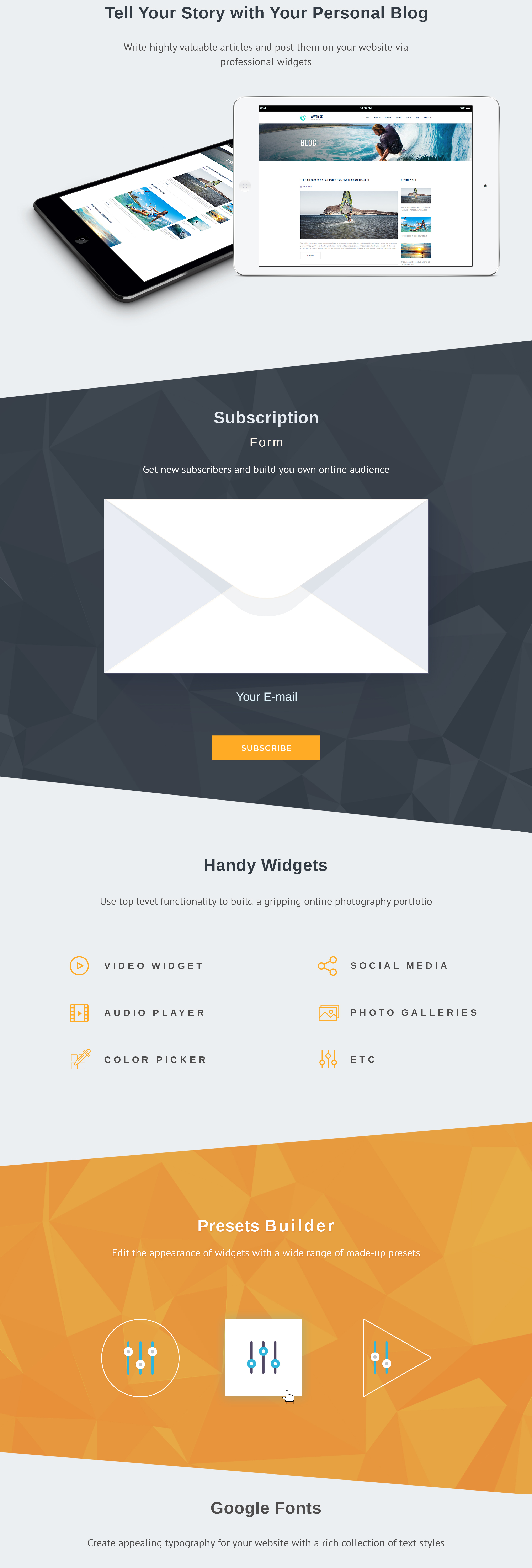 Waveride - Surfing Club Moto CMS 3 Template