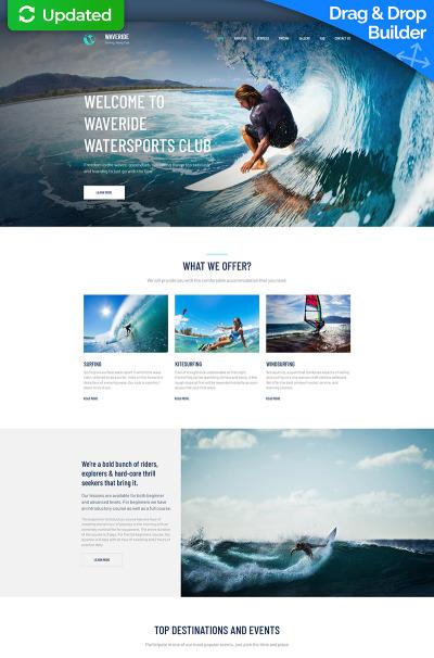 Surfning Responsivt Moto CMS 3-mall