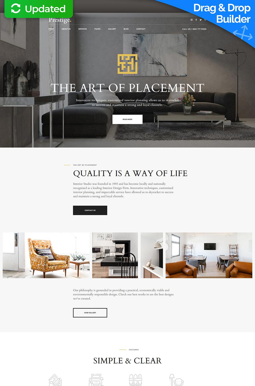 Plantilla para moto cms 3 - Categoría: Decoración y muebles - versión para Desktop