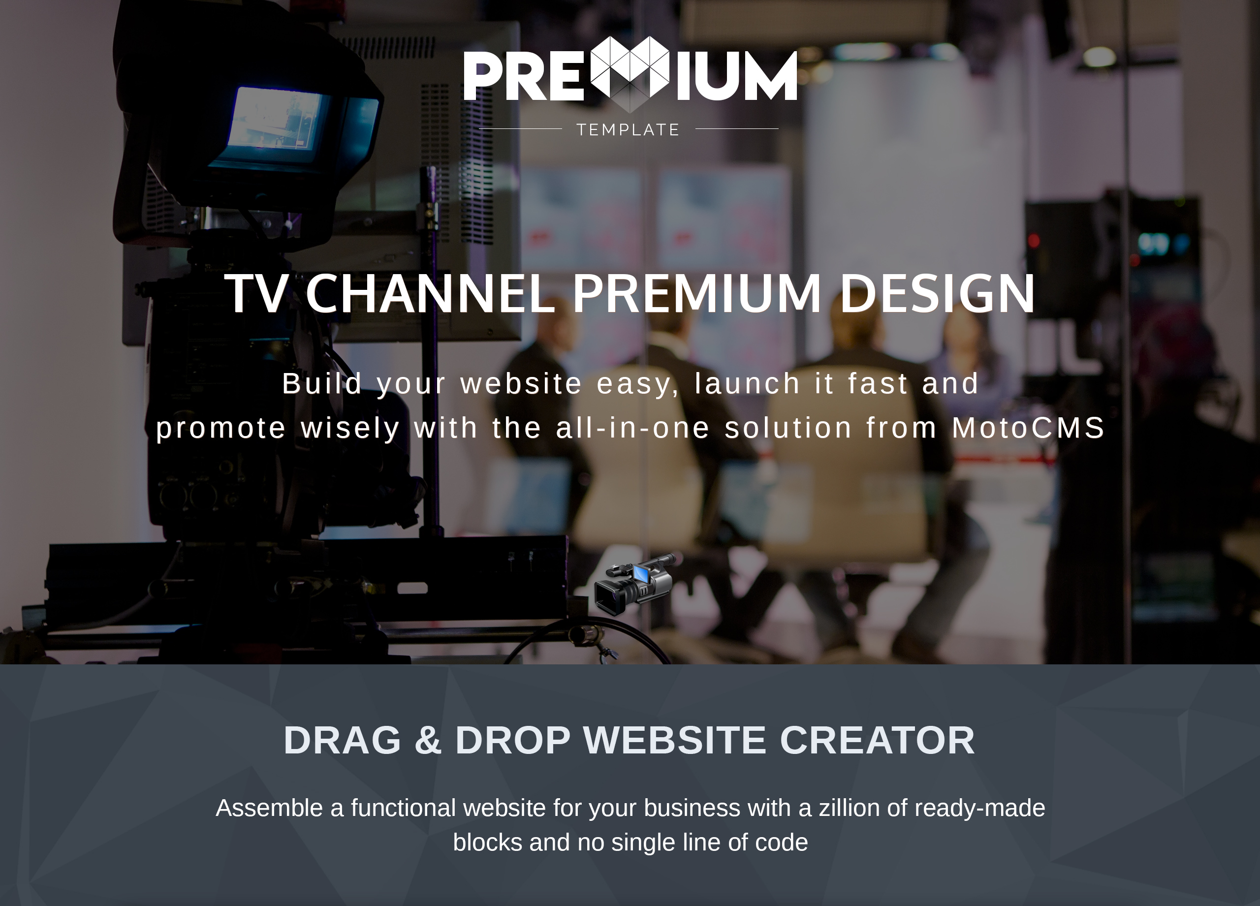 TV Channel Premium Moto CMS 3 Template