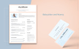 Lily Jefferson - Babysitter and Nanny Resume Template