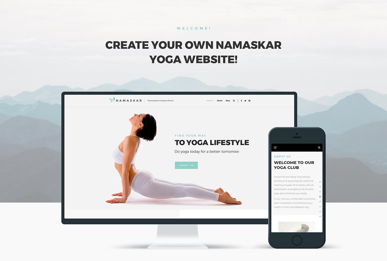Namaskar - Yoga WordPress Theme #66469