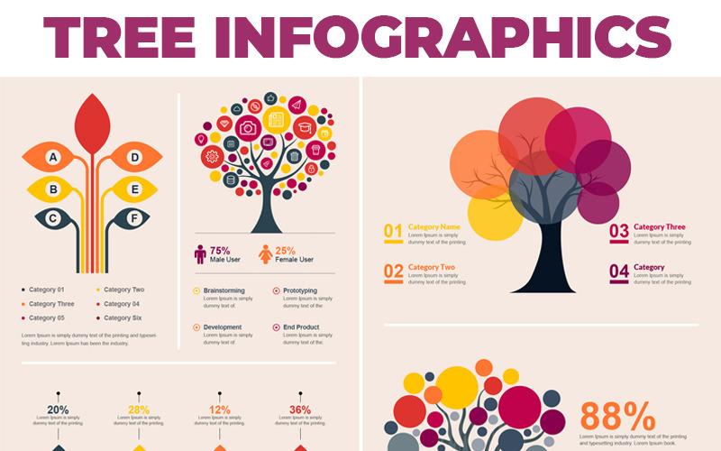Tree Bundle - Infographic Element